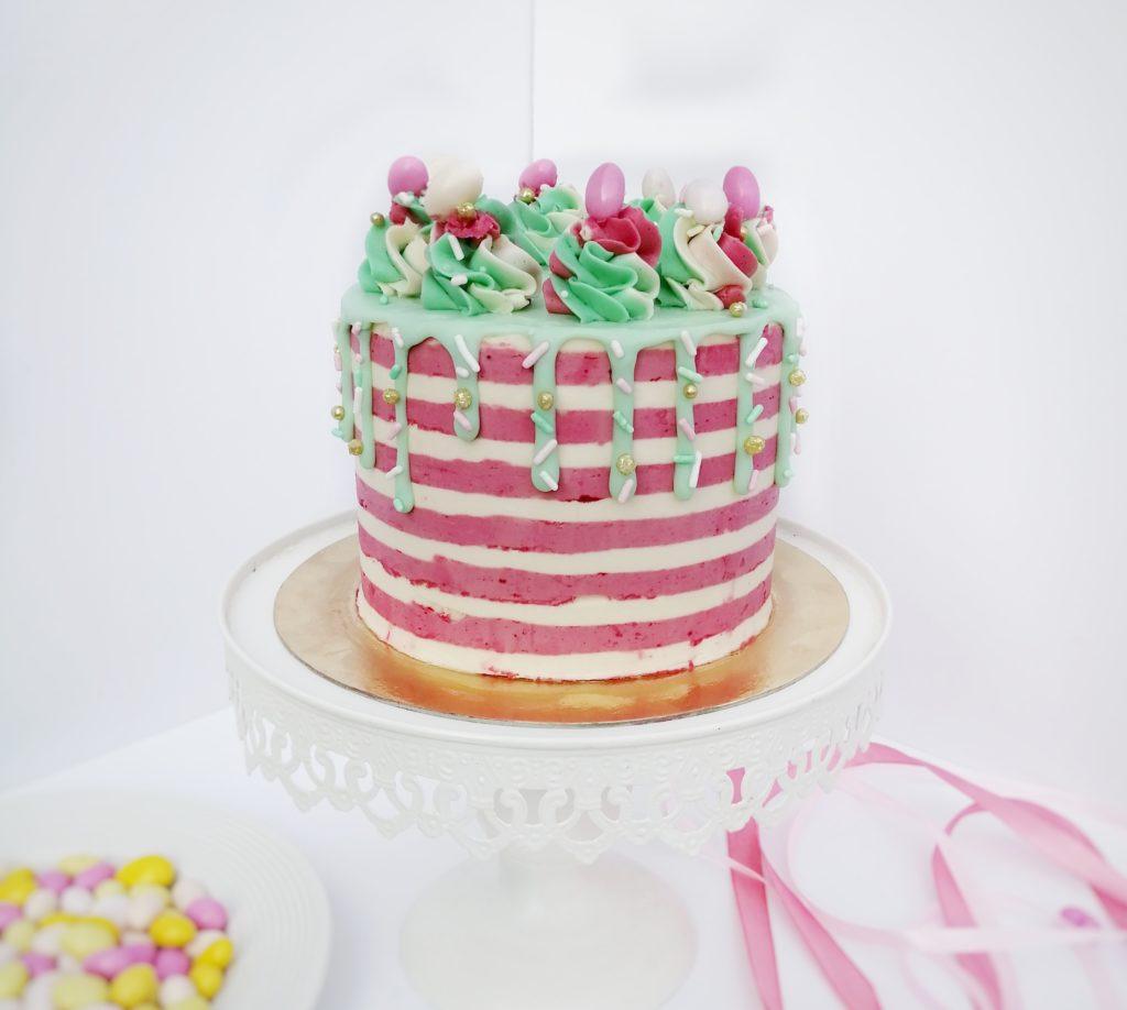 Layer Cake à rayures