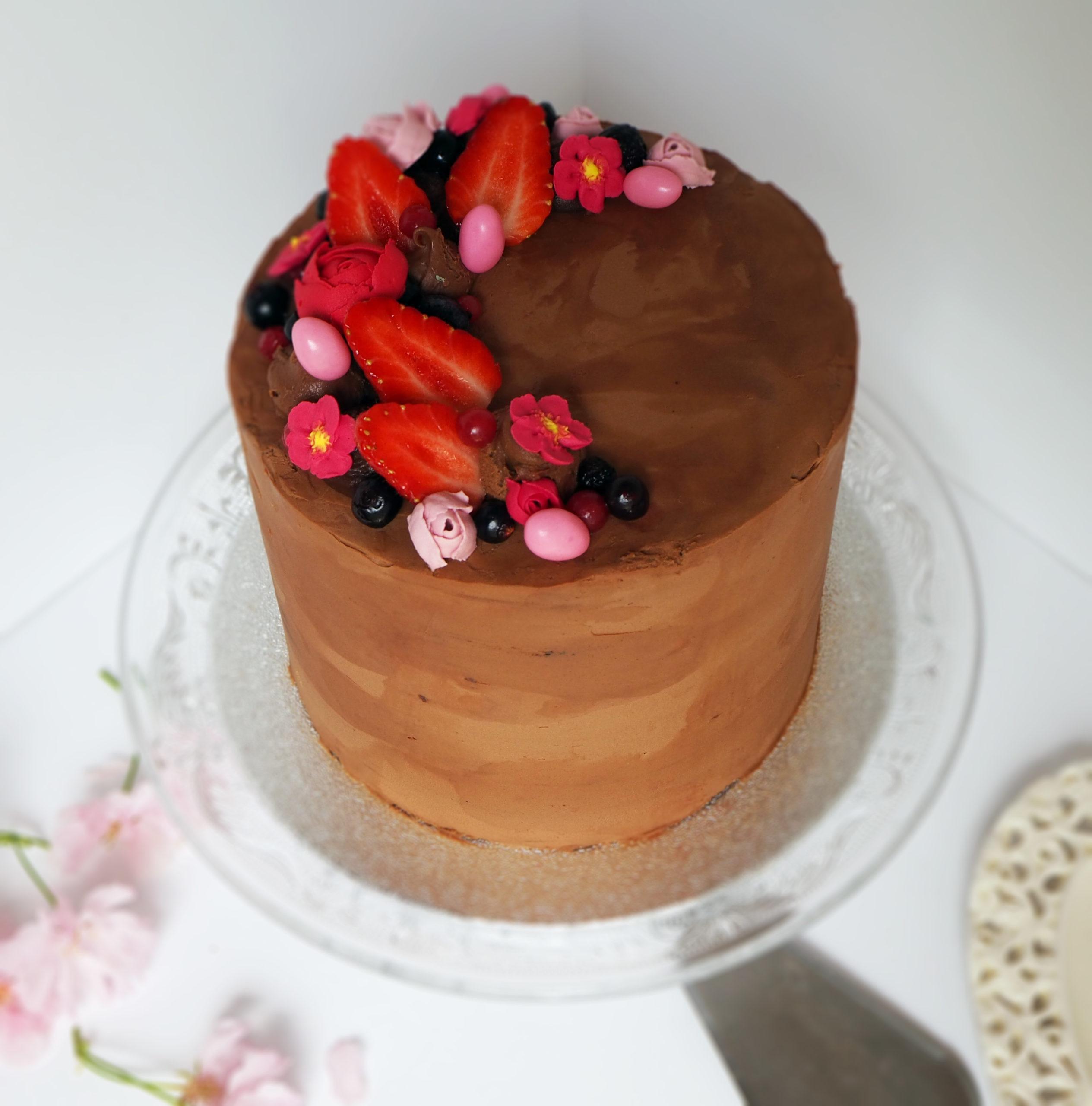 Layer Cake Chocolat Fruits Rouges