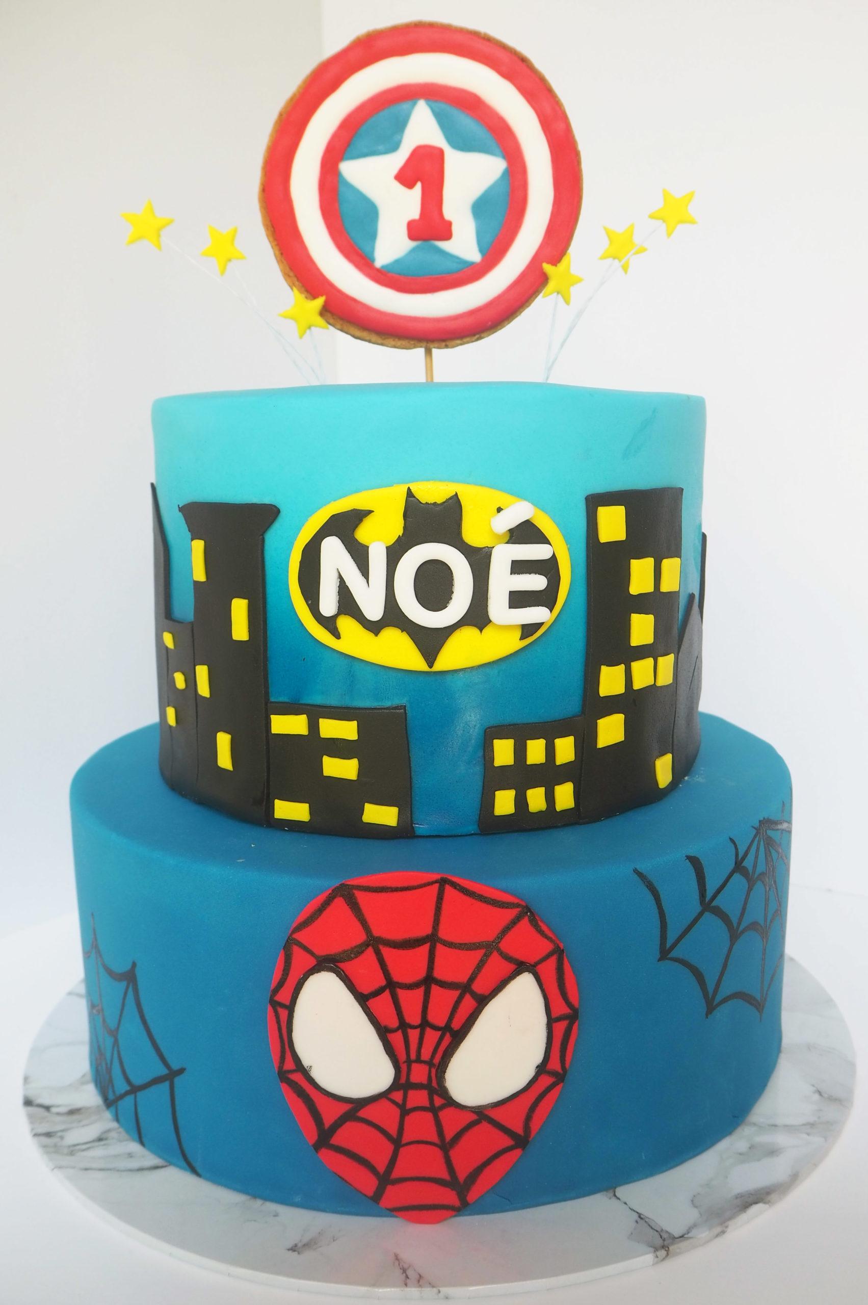 Gâteau Super Héros