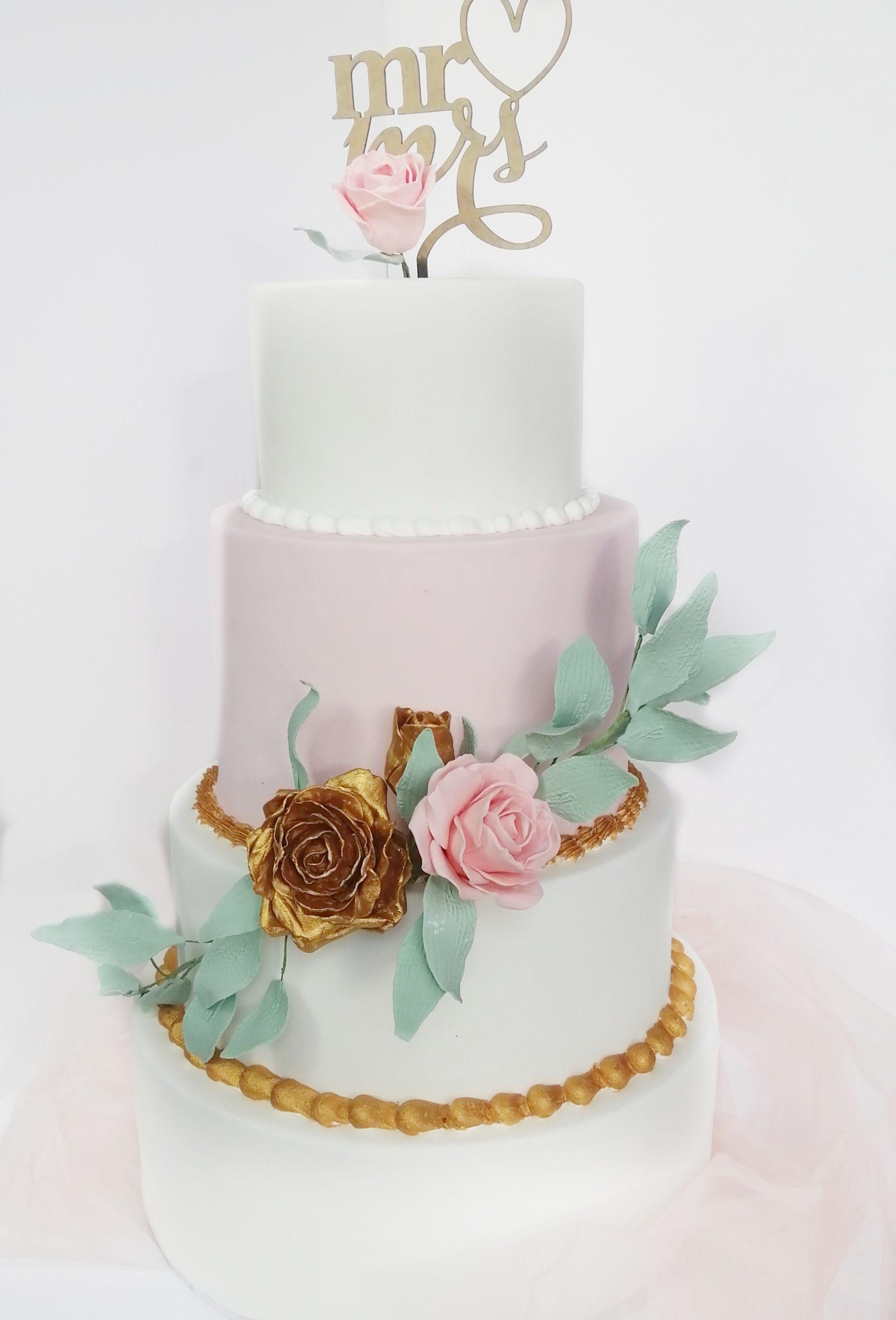 Wedding Cake Rose Doré