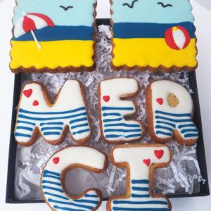 Coffret biscuits Merci Vacances